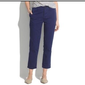 Madewell Rivington cropped trousers size 27